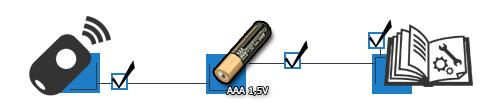Bedienungsanleitung und Batterien enthalten